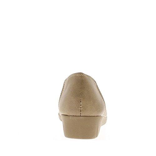 Chaussures Confort Taupe Femme Élastiqué Avec Dessus BBEFw6qrxK