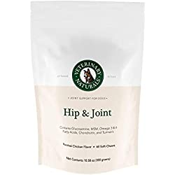 Veterinary Naturals Best Supplements for Dogs - Hip & Joint Supplement Glucosamine, Chondroitin & MSM, Turmeric & Fish Oil for Instant Pain Relief, Increased Mobility and Anti-Inflammatory (Chicken)