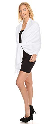 X Touché Femme Couleurs Top Blanc Bal 90cm Mariage Cocktail 60 Cérémonie De Tendance 198cm Étole Cérémonies Wrap Fêtes Écharpe Soirée Châle Soyeux Accessoire AUqS1S