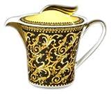 Versace by Rosenthal Barocco 43-Oz. Teapot, Black/Gold