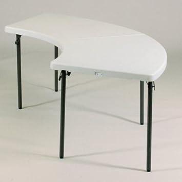Delicieux Correll, Inc. 96u0027u0027 Semi Circle Folding Table