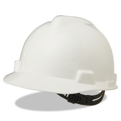 V-Gard Hard Hats, Staz-On Pin-Lock Suspension, Size 6 1/2 - 8, White, Sold as 1 Each