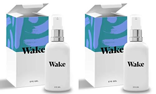 Vitamin Anti Ageing - Wake Skincare Eye Gel - Hydrating Eye Serum for Puffy Eyes, Dark Circles, Eye Bags, Crows Feet and Wrinkles – Vitamin E – Collagen - 30ml Anti Ageing Eye Cream (2 Pack)