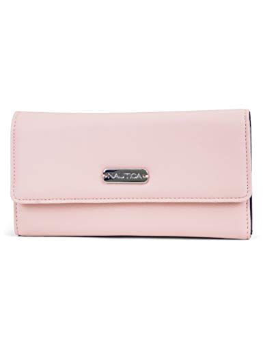 (Nautica Money Manager RFID Women's Wallet Clutch Organizer (Petal Pink))