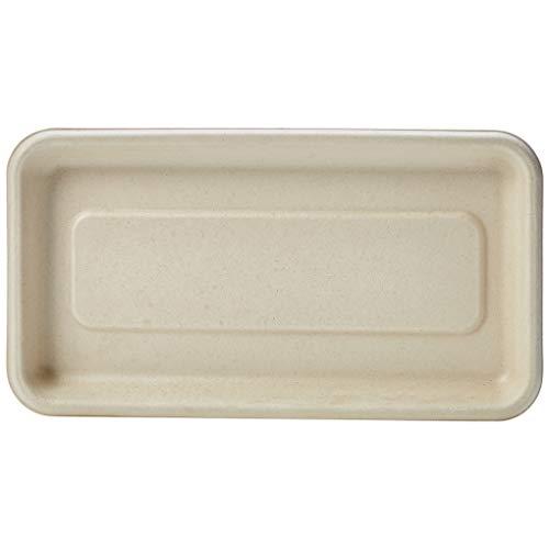 AmazonBasics Compostable Tray, Kraft, 8.3 x 4.5 Inches, 500 Trays by AmazonBasics (Image #1)