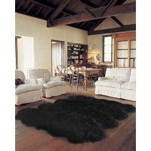 black sheepskin rug. Black Sheepskin Rug - Octo (7x6 Ft) A