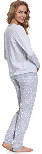 Cornette Pijama para mujer 671 2016 Melange/Blanco(White Bear 2)