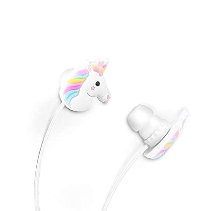 TiooDre - Auriculares intraurales Ligeros para teléfonos móviles, diseño de Unicornios