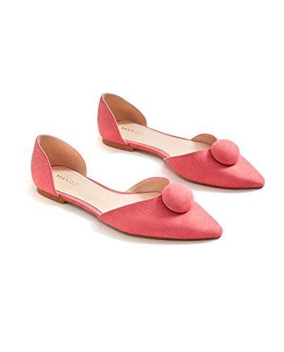 MANGO Women's Pointed Toe Flat Shoes 33090655 Jg0EDLf