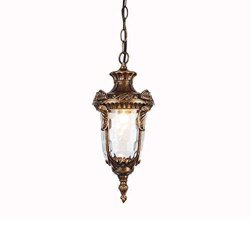 (Pumpink Barn 1 Light Antique Country Rustic Pendant Ceiling Lamp Outdoor Waterproof Aluminum Glass Exterior Chandeliers Lighting Brass Garden Lighting Courtyard Hanging Lamps for Porch)