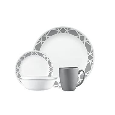 Livingware 16-Piece Dinnerware Set, Modena, Service for 4
