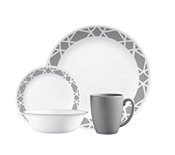 Livingware 16-Piece Dinnerware Set, Modena, Service for 4