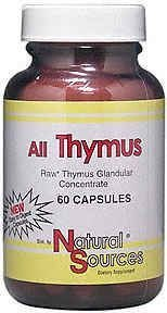 Natural Sources All Thymus 60 Capsule