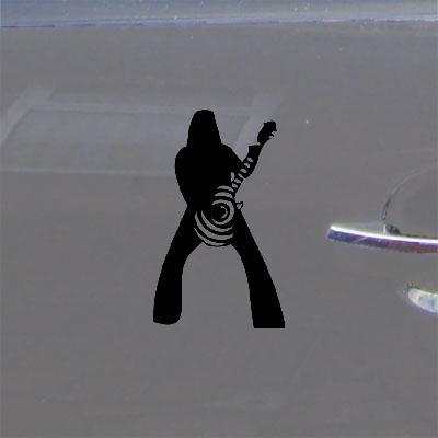 ADHESIVE VINYL WINDOW HOME DECOR ART ZAKK BULLSEYE BLACK SABBATH GUITAR VINYL WALL MACBOOK BLACK AUTO LAPTOP DECORATION HELMET WALL ART DECOR BIKE CAR NOTEBOOK DIE CUT CAR STICKER