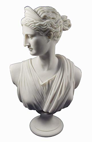 (Estia Creations Artemis Sculpture Diana Bust Ancient Greek Goddess of Hunt Great Statue)