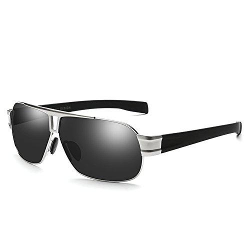conduce para de 2 Gafas polarizadas que Moda aire 2 la retras Silver Silver ligero libre YXX de hombres los Gafas sol ropa Color al vq07Xx