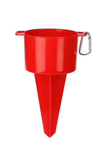 Barbuzzo Urband Trend Beach Stake Cup Holder, Red