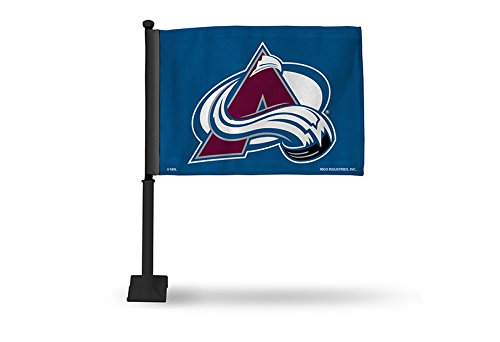NHL Colorado Avalanche Car Flag, Blue, with Black Pole Pro-Motion Distributing - Direct FGK6902