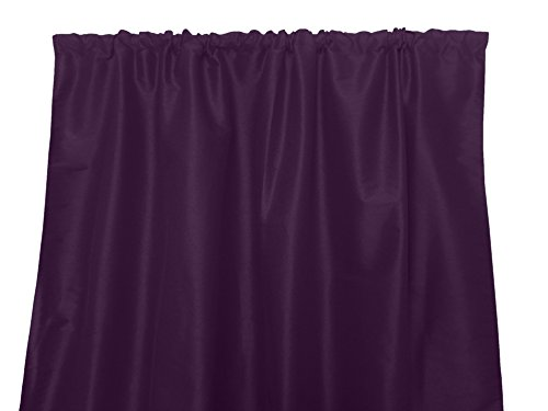 Zen Creative Designs Solid Faux Silk Dupioni Curtain Panel/Home Window Decor/Window Treatments/Decorative (58 Inch x 63 Inch, Plum)