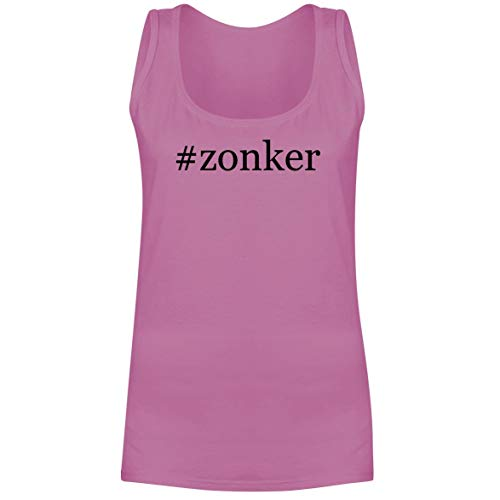 The Town Butler #Zonker - A Soft & Comfortable Hashtag Women's Tank Top, Pink, X-Large