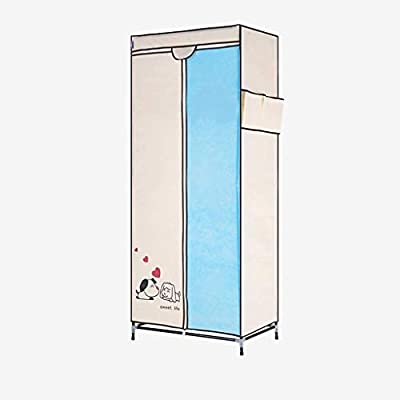 TYUIO Armario portátil para Ropa Organizador para Almacenamiento de armarios con Estante para Colgar - Ensamblaje sin Herramientas - Funda de Tela Lavable - Extra Fuerte y Duradera (70x45x160 cm): Amazon.es: Hogar