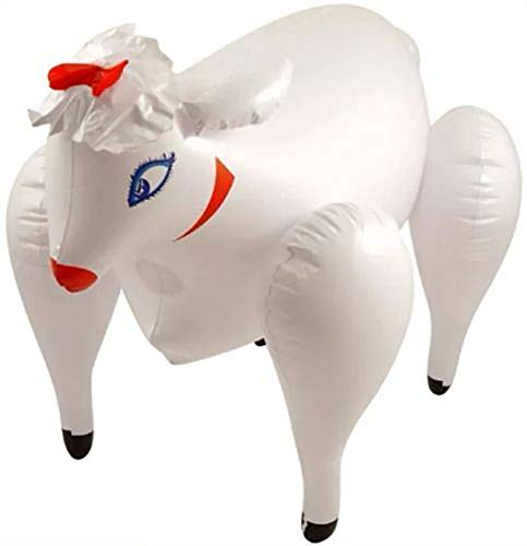 Rimi Hanger Inflatable Sheep Blow Up Toy Adults Hen Night Stag Party Fancy Dress Accessory One Size Pack of 1