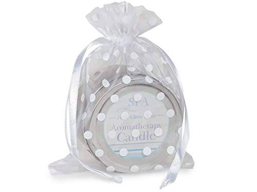 10 White Polka Dots Organza Bags 5x6.5 Christmas Easter Holiday Wedding Favors Party Supplies tokocathy