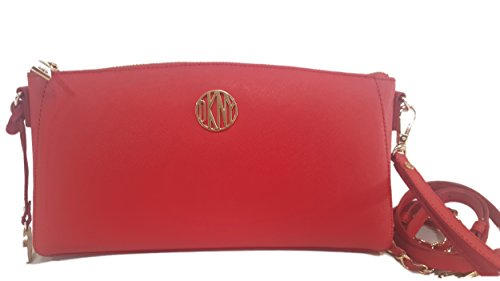 nwt-dkny-bryant-park-crossbody-bag-chili-red-saffiano-leather-large-clutch