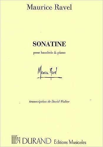 Dave Walter Vw >> Sonatine Hautbois Piano David Walter Hautbois Maurice