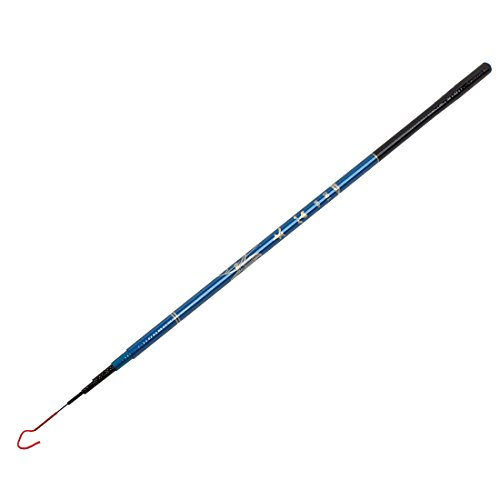 Telescopic Hook - uxcell Plastic Round Handle Telescopic 6 Sections Fishing Rod 1.8M Length Blue Black