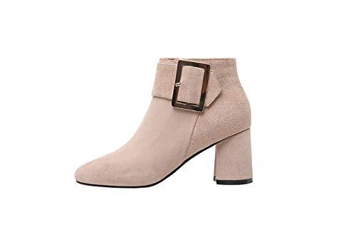 Fermeture Chaussures Vaneel ToeCM Beige 6 5 vabtrt Femme Round Éclair Bottes FqnFBzY