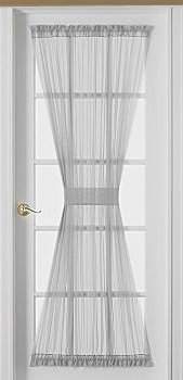 Sheer Voile 72-Inch French Door Curtain Panel White
