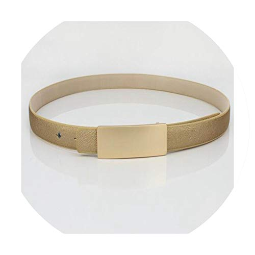 Metal fashion brief all-match leather thin belt female decoration strap one-piece dress sweater accessories for white,gold,100cm ()
