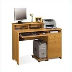 Bestar Legend Home Office Wood Computer Desk in Golden Oak