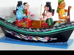 True Facility Wooden Kondapalli Rama Boat Showpiece, Indian Wooden Handicrafts, Kondapalli Handicrafts (27 cm x 11 cm x…