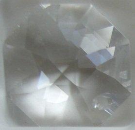 Swarovski 28mm Clear Crystal Faceted Heart Prism
