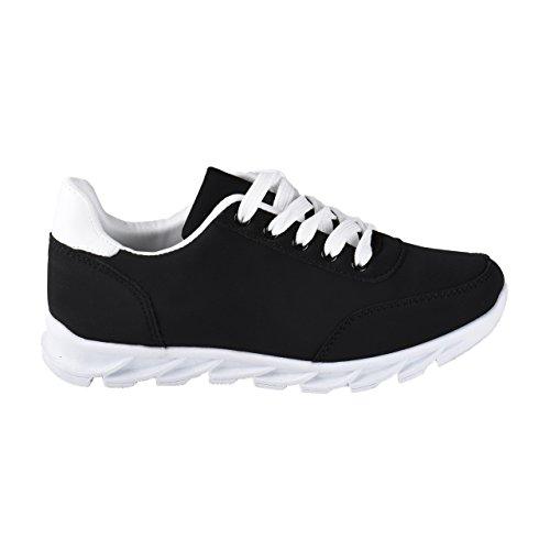 Zapatos de deporte de mujer Neon Dream Rosa y Negro negro