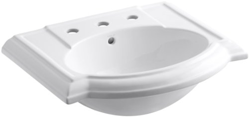KOHLER K-2287-8-0 Devonshire Bathroom Sink Basin with 8
