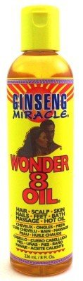 Ginseng Miracle Wonder 8 Oil 8 oz Cheveux / Bath / clou / Corps (Case of 6)