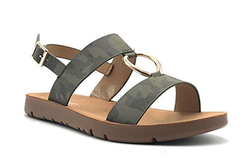 Comfortable Ankle Strap Platform Wedge Stylish Flexible Summer Flat Sandal Camouflage-10 M US ()