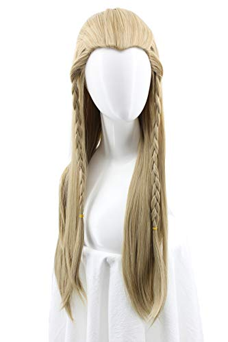 Unisex Braids Long Straight Blonde with Braids Cosplay Wig Halloween Costume Wig ()