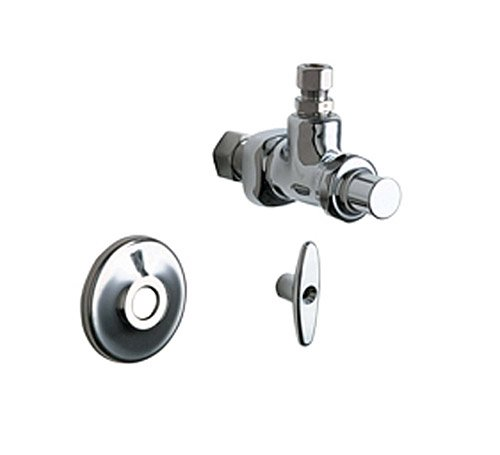 Chicago Faucet Urinal Valve (Chicago Faucets 1025-CP Chrome Plated 5/8 x 3/8 Angle Stop Fitting)