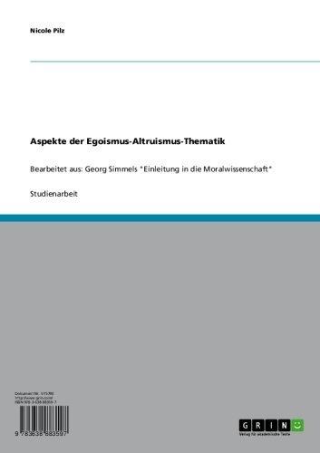 Einleitung in die Moralwissenschaft (German Edition)