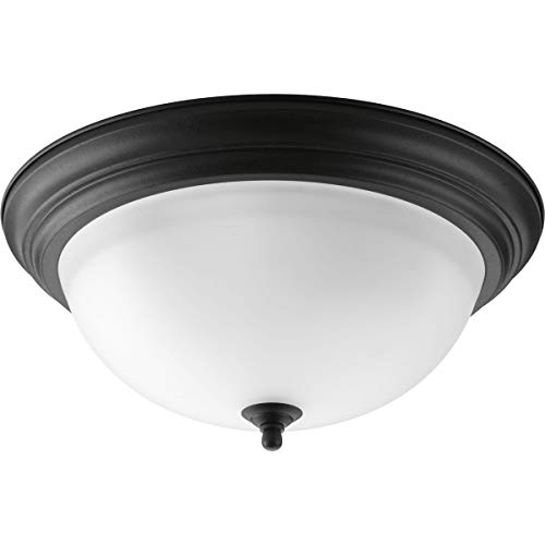 Progress Lighting P3926-80 3-Light Flush Mount with Etched Glass Bowl