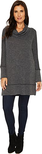 Dolman Sleeve Tunic Sweater - Mod-O-Doc Women's So Soft Sweater Knit Dolman Sleeve Cowl Neck Tunic Black Heather Medium