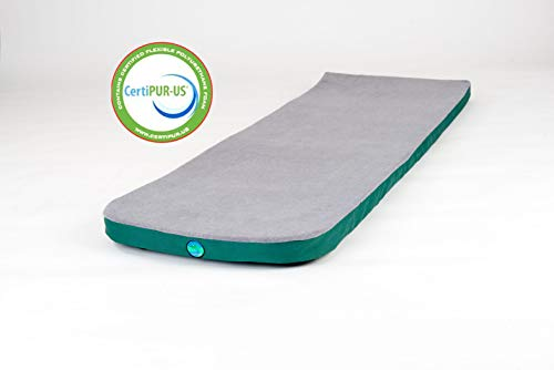 LaidBackPad Memory Foam 24 x 72 x 2 3 8 Camping Mattress for Great Sleep While Camping or at Home with Built-in Connector and Weighs 8.5 lbs.