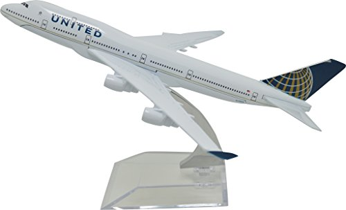 TANG DYNASTY(TM) 1:400 16cm Boeing B747-400 United Airline Metal Airplane Model Plane Toy Plane Model ()