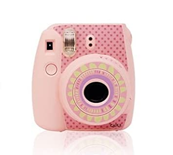 [Fujifilm Instax Mini 8 Sticker] -- CAIUL Creative Camera Decor Sticker For Fujifilm Instax Mini 8 Camera(Sunflower-Blue) NodArtisan
