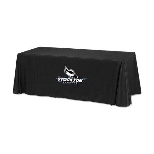 Stockton Black 6 foot Table Throw 'Official Logo' by CollegeFanGear