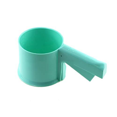 Casavidas Backwerkzeug Mehl Kunststoff Sieb Form Mechanisches Mehl Sieb Pulver Sieb Backen Zuckerguss Shaker mit Griff Manual  Himmelblau B07K7LJQSF Seiher